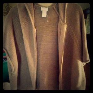i zip up sweater/poncho size 2